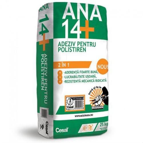 Adeziv pentru fixare polistiren si masa de spaclu Cesal Ana 14+ - 22.5Kg