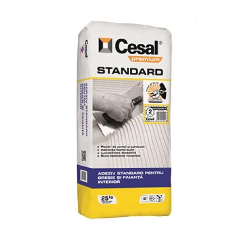 Adeziv pentru gresie si faianta Cesal Premium Standard - 25Kg