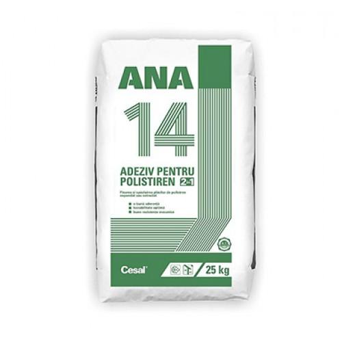 Adeziv pentru fixare polistiren si masa de spaclu Cesal Ana 14 - 25Kg