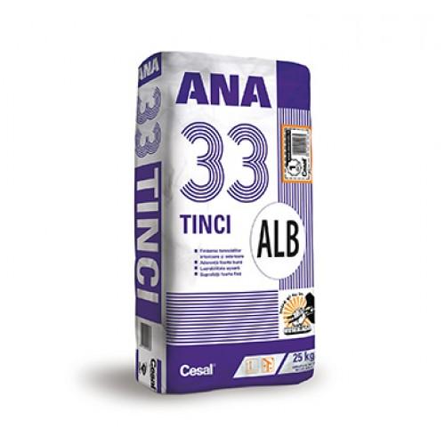 Tencuiala fina alba (Tinci) Cesal Ana 33 Alb - 25Kg