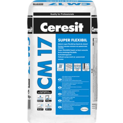 Adeziv super-flexibil pentru placari ceramice Ceresit CM 17 - 25Kg
