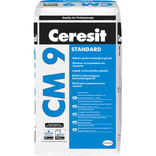 Adeziv pentru gresie si faianta pentru interior Ceresit CM 9 - 25Kg