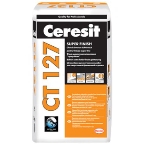 Glet de finisaj pe baza de ciment alb Ceresit CT 127 - 20Kg