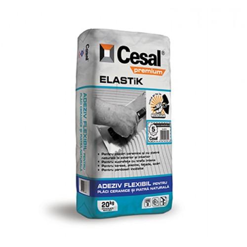 Adeziv elastic pentru placi ceramice si piatra naturala Cesal Premium Elastik - 20Kg