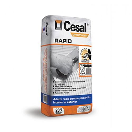 Adeziv pentru placari interioare si exterioare Cesal Premium Rapid - 20Kg