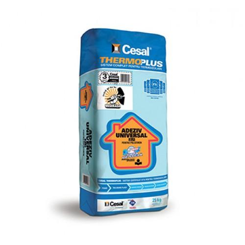 Adeziv si masa de spaclu pentru polistiren  Cesal Premium Thermoplus 2in1 - 25Kg