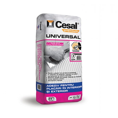 Adeziv pentru placari ceramice Cesal Premium Universal - 25Kg