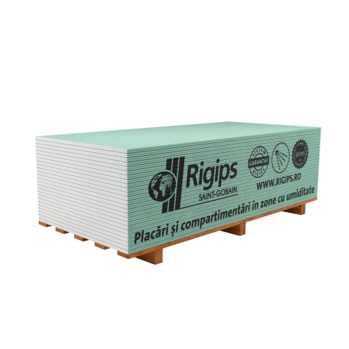 Placa gips-carton antiumezeala Rigips RBI 12.5x1200x2600 mm
