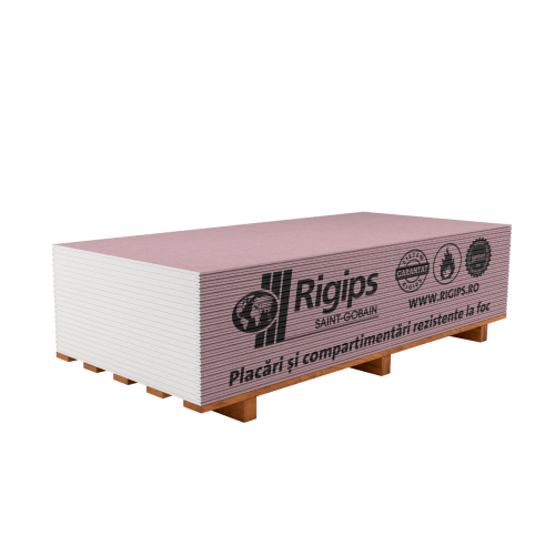 Placa gips-carton rezistenta la foc Rigips RF 12.5x1200x2600 mm