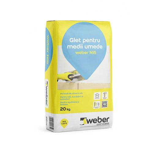 Glet de egalizare pentru medii umede Weber N15 - 20Kg